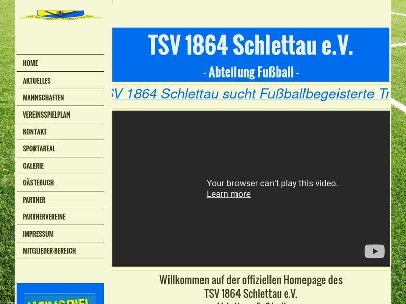 Screenshot von http://www.fussball-schlettau.de/